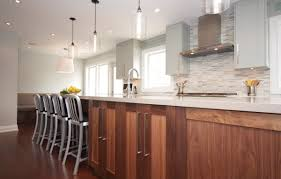 cool kitchen lighting. Cool Kitchen With Mosaic Tile Backsplash And Stainless Steel Vent Hood Clear Glass Shade Pendant Lighting For O