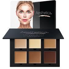 aesthetica cosmetics cream contour and highlighting makeup kit contouring foundation concealer palette vegan
