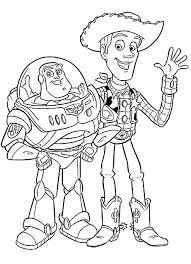 Toy Story Buzz Lightyear E Woody Disegni Da Colorare Categoria