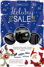 Winter Holiday Sale Free Flyer Template Download Flyer