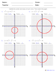 these dynamically generated worksheets are great for practicing graphing circle equations
