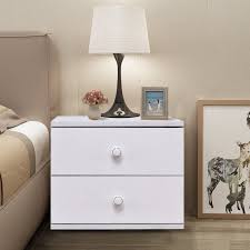 bedroom set bedside table with drawer and shelf bedside table with drawers small white table