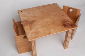 custom made children s wooden table and chair set