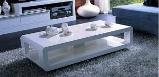 elegant white coffee table