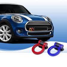 Satın Al Renkli Yarış JDM ABS Dekorasyon Sticker Çekme Kanca Römork Yüzük  Ön Arka Mini Cooper One S Araba Styling Aksesuarları, TL142.77