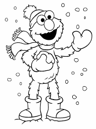 sesame street christmas coloring pages