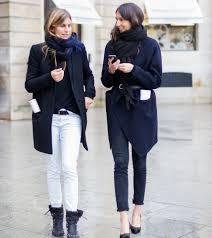 french style emmanuelle alt black blazer booties white