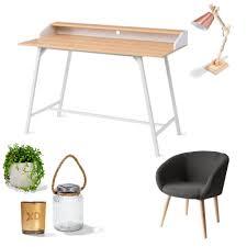 kmart scandinavian desk and occasional chair deco also kmart