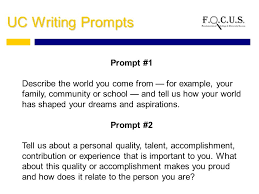 examples of uc essay prompt  disqus uc transfer essay examples prompt 2
