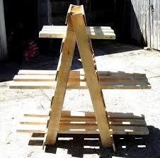 diy pallet ladder shelf display unit