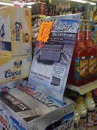 Case Coors Light Coors Light Hispanic Case Card Labor Day 2010 Retailpics