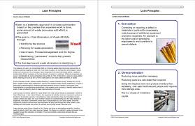 How To Make A Quick Reference Guide Lean Principles Quick Reference Guide Isixsigma
