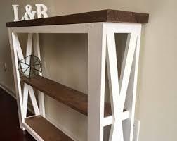 slim entry table. Farmhouse Entryway Table, Foyer X-style, Slim Narrow Table Entry B