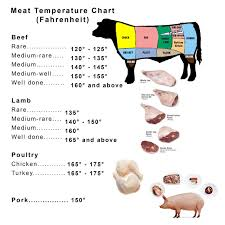 Meat And Poultry Temperature Chart Lamb Left Over Chicken