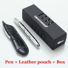neat office supplies. Mini Crocodile 9cm Ballpoint Pen Black Pouch Neat Convience Office Supplies Luxury Metal Copper