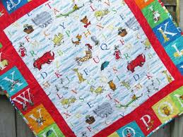 Dr Seuss Baby Quilt abc Unisex Crib bedding Nursery Decor & 🔎zoom Adamdwight.com