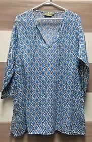 Rock Paper Flower Tunics Rock Flower Paper Womens Blue Tunic Dress Embroidered Beach
