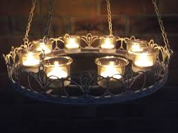 vintage french style hanging tea light chandelier