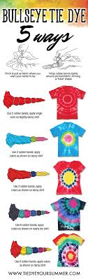 Tulip Fabric Dye Color Chart Its So Easy To Get The Bullseye Tie Dye Design Create Your