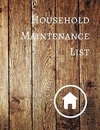 Household Maintenance List Household Maintenance List Journals For All 9781521169148
