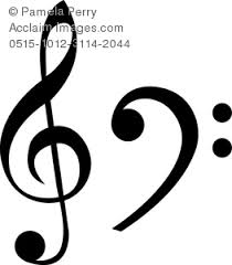 treblecleff clip art image of a treble clef and a bass clef