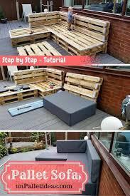 diy outdoor pallet sectional. DIY Pallet Sectional #Sofa : Tutorial | 101 Ideas Diy Outdoor P