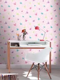 Pink Wallpaper Bedroom Glitter Butterflies Pink Wallpaper Girls Rooms Pinterest
