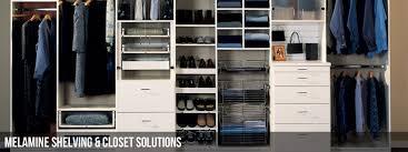 melamine custom closet shelving