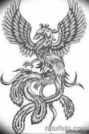 эскизы тату феникса для девушек 08032019 025 Tattoo Sketches