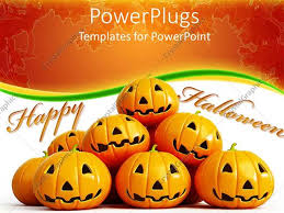 Powerpoint Template Halloween Theme With Happy Halloween Message