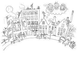 Kleurplaat Leve Sint Piet