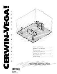 lw 10 cerwin vega power subwoofer manual location