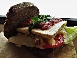 Super Sandwich Version 4 Black Bread Picture Of Pandala Bakery