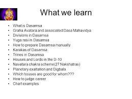 Dasamsa Chart Analysis Guide Dasamamsha And Principles Ppt Download