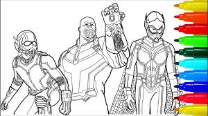 Ant Man Thanos Wasp Superheroes Coloring Pages Colouring For Best Of