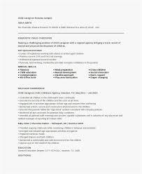 Caregiver Resume Skills Picture Resume Examples For Caregivers