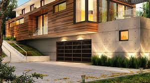dark brown garage doorsModern Glass Garage Doors