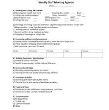 Agenda For Meetings Format 101 Guide Of Weekly Meeting Agenda With Free Templates