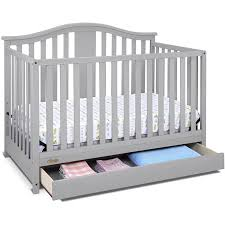 Graco Solano 4 in 1 Convertible Crib with Drawer Pebble Gray ...