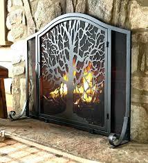 modern ideas fireplace screens deer screen corner new fireplaces the home depot lovely corner fireplace screen