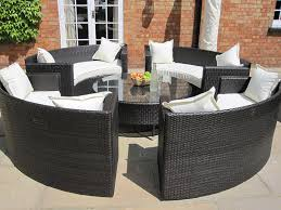 grey rattan dining table. lauren luxury grey rattan garden furniture circular sofa and coffee table set.: amazon.co.uk: kitchen \u0026 home dining i