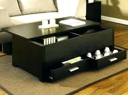 small coffee tables with storage black