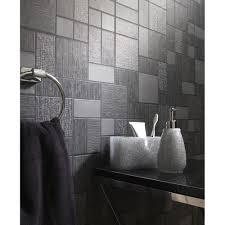 bathroom wallpaper. Holden Décor Tile Pattern Glitter Motif Kitchen Bathroom Vinyl Wallpaper 89240 U