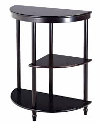 frenchi furniture cherry 3 tier crescent half moon hall console table end table com