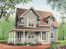 country house plan front photo 02 032d 0017 house planore