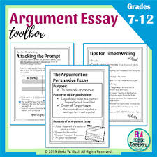 Argumentative Writing For Middle School Timed Writing Prompts Resources