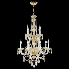 provence collection 12 light gold finish and clear crystal chandelier 28 d x 41 h two 2 tier large
