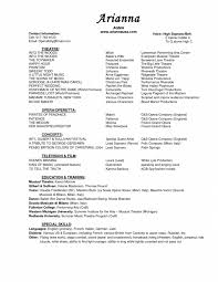 Broadway Resume Sample Cover Letter Sample Musical Theatre Resume How To Write A Musician 15