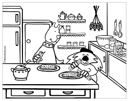 Coloring Pages Kitchen Free Online Printable