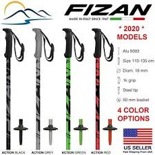 Details About 2020 Fizan Aluminum Downhill Ski Poles Action Model Made In Italy